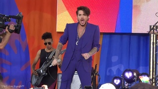 TALC HD - Adam Lambert - Audience View of 'Another One Bites the Dust' Performance - G M A - NYC