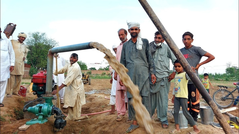Tube Well Installation Water Boring Machine Working in Pakistan Mozzam Saleem