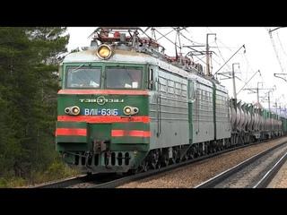 ВЛ Б/623 с грузовым поездом летит через о.п. 472 км