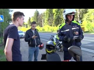 На мотоцикле - без прав