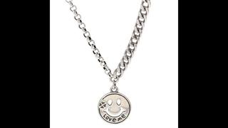 Женское ожерелье с кулоном sweet smile face, кулон из стерлингового серебра 925 пробы, ювелирное