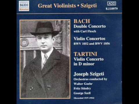 Bach Violin concerto in D minor BWV 1052 Restored Szigeti 2nd mov