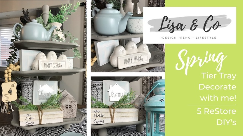 Spring Tier Tray Decorate With Me 5 ReStore DIY's