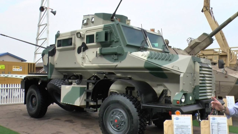 AAD 2016 Casspir weapons mounted system and 6x6 recovery vehicle