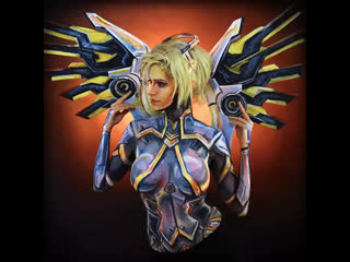 A painting I made of Overwatch 2 Mercy