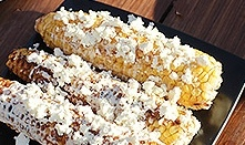 Кукуруза с сыром жареная на мангале