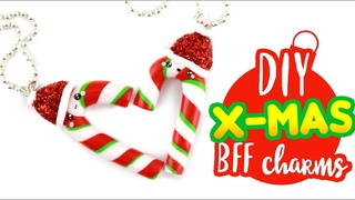 DIY Candy Cane BFF CHARMS! - X-mas DIY! | KAWAII FRIDAY