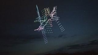шоу дронов в великом новгороде. день космонавтики