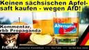 Direktsaft-Propaganda! Keinen sächsischen Apfelsaft kaufen wegen AfD! * Kommentar rbb