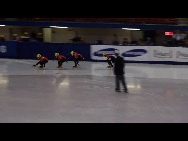 2013 Short Track Canada Olympic trials 500m Ladies Final A 1 Valerie Maltais 2 Marianne St Gelais 3 Jessica Hewitt 4 Jessica Gregg