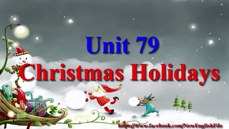 Unit 79 Christmas Holidays   Learn English via Listening Level 4