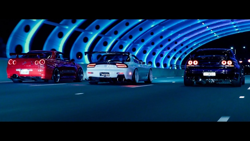 Midnight Run. (R34 GTR, FD RX7, Evo and more) | Zhiyun Crane 3 Lab | 4K