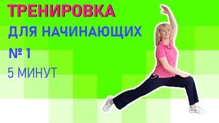 Домашняя тренировка/Сидя на стуле/5 мин/ №1