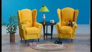 DIY/Мини кресла для куклы. Мастер - класс. #кукольнаямебель #furniturefordolls #homemade