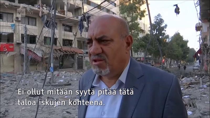 Ylen reportteri huolissaan, kun Israel tuhonnut viattoman talon Gazassa (5.5.2019)