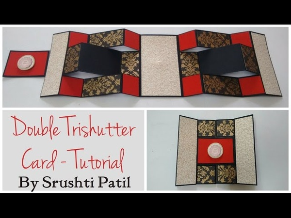 Double Tri shutter Card Tutorial by Srushti Patil