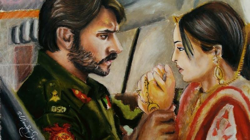 Rangrasiya |Sanaya irani Ashish Sharma |Paro Rudra |drawing | Oil Pastel Art