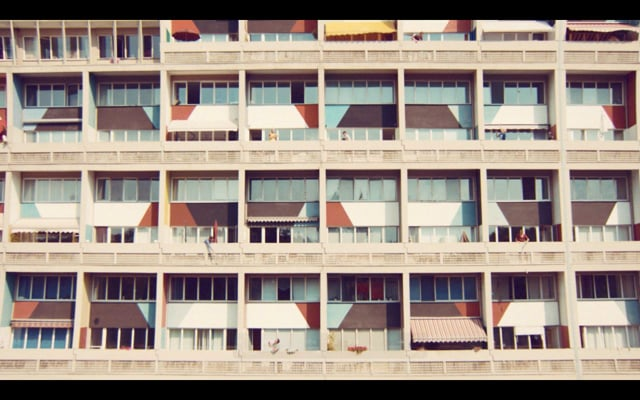 Recycling in the Corbusier Haus Berlin BSR Handball