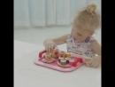 Розовый игрушечный дом моделирования кухни торт послеобеденный чай Установить подарок на день рождения деревянные игрушки высоко