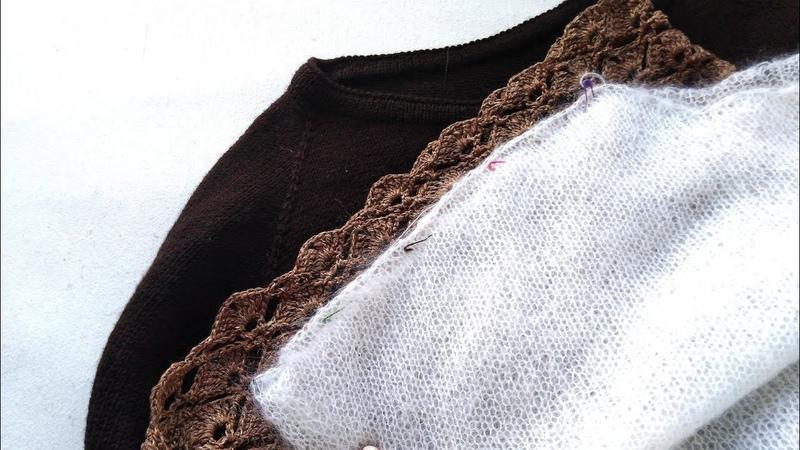 Вязание. Платье готово. Вяжу облачко. Knitting.