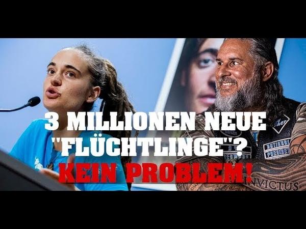 Carola Rakete 3 MILLIONEN neue Flüchtlinge KEIN PROBLEM