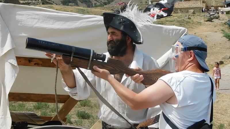 Стрельба из аркебузы (поджиги) 1