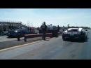 Buggatti Veyron vs Buggatti Veyron 1/4 Mile Race Gold Rush 2nd Angle