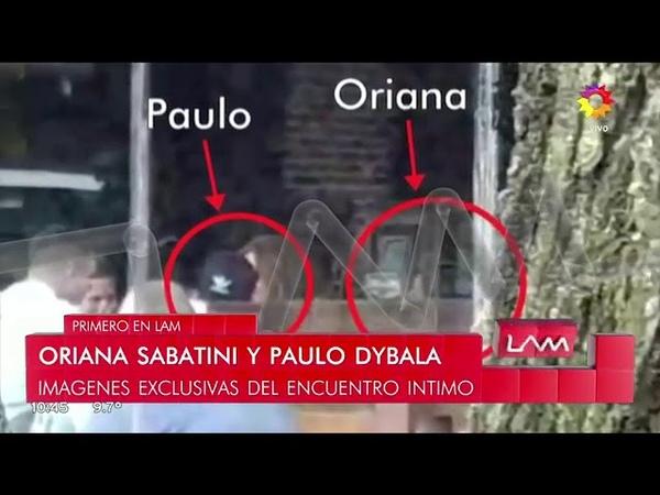 Oriana Sabatini y Paulo Dybala fueron sorprendidos juntos
