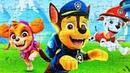 Щенячий патруль Гонщик, Скай и Маршал - Собираем пазлы для детей с героями Paw Patrol Funny Liza
