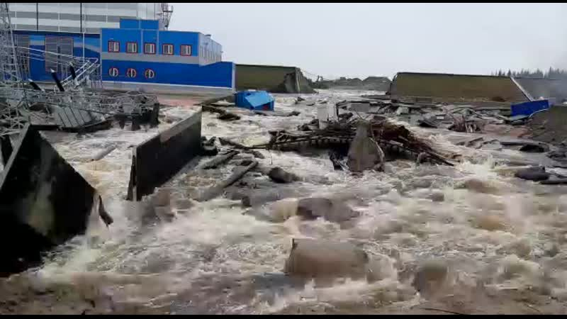 Последствия прорыва плотины на Белопорожских ГЭС