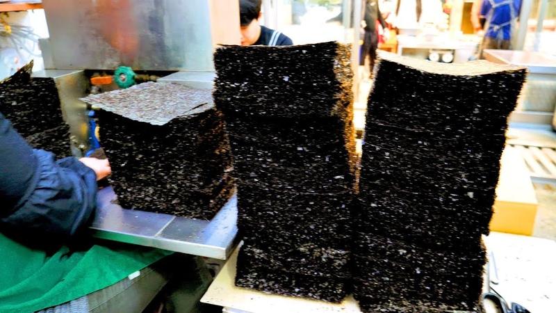 구운김 맛집 SEAWEED LAVER making - Korean food