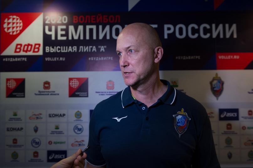 Алексей Рудаков дает послематчевое интервью. Фото Андрей Ткаченко