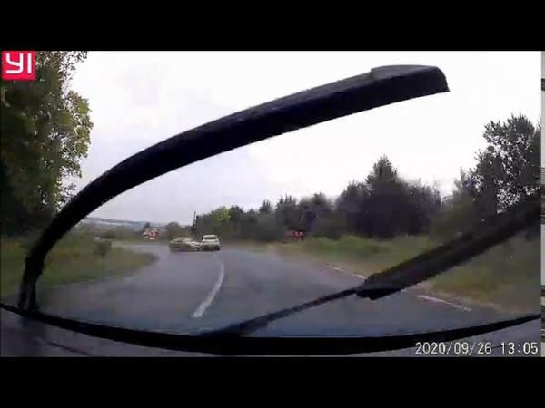 ДТП у Л\о (26.09.2020 р. автодорога Т-14-18, Дрогобич) водій ЗАЗ Sens не впорався з керуванням...