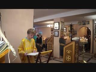 Сергей Никифоров читает Апостола Павла послание к галатам, храм св вмч. и целителя Пантелеимона,  г., г. Рязань