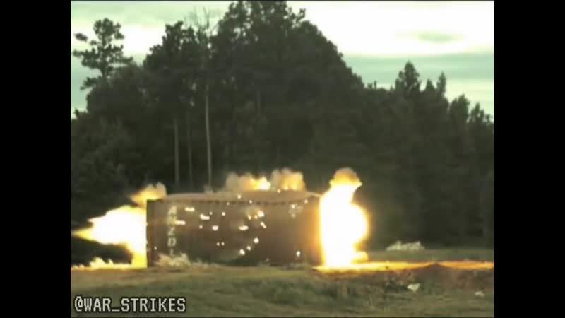 действие осколочно-фугасного танкового боеприпаса