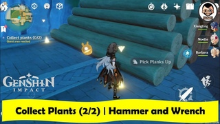 Here is how to Collect Plants (2/2)   Hammer and Wrench   Genshin Impact   NJMH Gaming