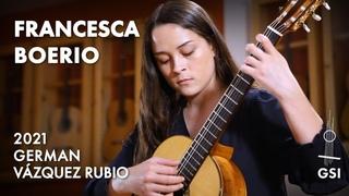 "Manuel Ponce's ""Sonata Romántica: I. Allegro Moderato"" by Francesca Boerio on a G.V. Rubio ""Divina"" (2021)"