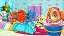 Смотри! PAW PATROL Новый мультик 5 щенков прыгали в кроватке Видео для детей