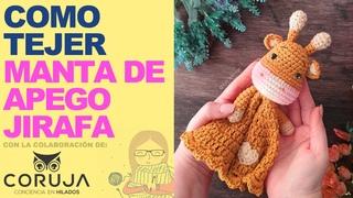 Manta de apego para bebé a crochet - Jirafa crochet amigurumi paso a paso en ESPAÑOL -  - ENG SUBS