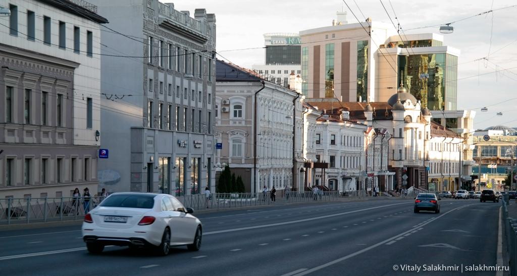 Улица Пушкина в центре Казани, путешествие 2020