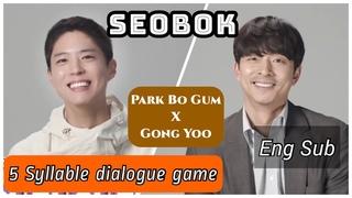 [ENG] 5 Syllable SEOBOK Word Game - Park Bo Gum, Gong Yoo - Cute short interview
