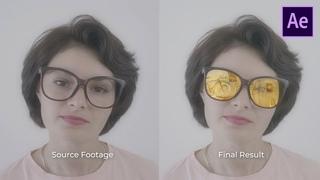 Создание реалистичного отражения в очках - After Effects урок