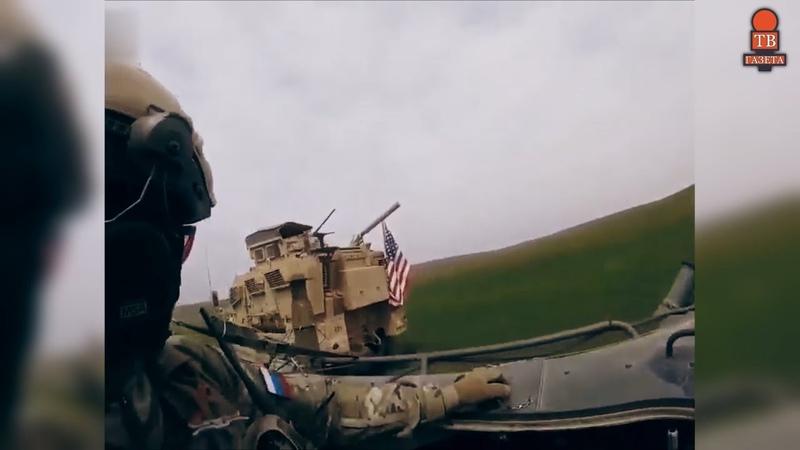 Очередная встреча Российских и Американских военных состоялась в Сирийской провинции Хасеке