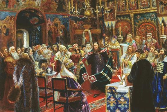 Сергей Милорадович «Суд над патриархом Никоном», 1885 год