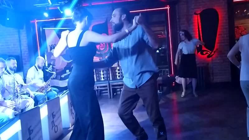 Линди хоп Настя и Леня вечеринка с Большим Джазовым Оркестром