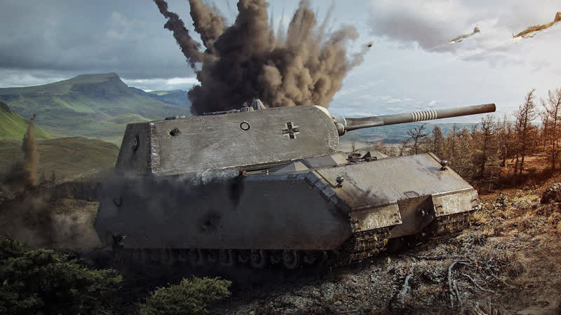 Maus BIG BANG World of Tanks 720p