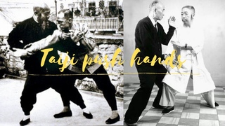 Ушу. Гимнастика. Tai chi sparring and grappling (Taijiquan push hands)  太極拳