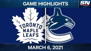 NHL Game Highlights | Maple Leafs vs. Canucks – Mar. 6, 2021