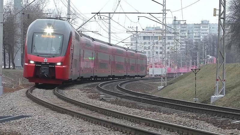 Эл.-поезд ЭШ2-006 Аэроэкспресс (ТЧ-50) пригородный поезд № 7525/6023, а/п Шереметьево - Одинцово.