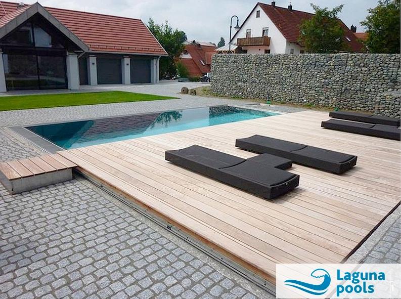 Накатная платформа для бассейна Laguna Cover Desk